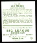 1933 Goudey Reprints #126  Joe Moore  Back Thumbnail