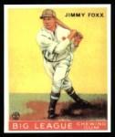 1933 Goudey Reprints #29  Jimmie Foxx  Front Thumbnail