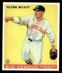 1933 Goudey Reprints #10  Glenn Myatt  Front Thumbnail