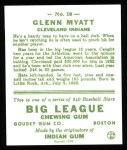 1933 Goudey Reprints #10  Glenn Myatt  Back Thumbnail