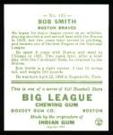 1933 Goudey Reprints #185  Bob Smith  Back Thumbnail