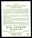 1933 Goudey Reprints #70  Floyd Scott  Back Thumbnail