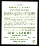 1933 Goudey Reprints #71  Robert Burke  Back Thumbnail