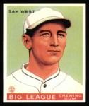 1933 Goudey Reprints #166  Sammy West  Front Thumbnail