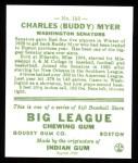 1933 Goudey Reprints #153  Buddy Myer  Back Thumbnail