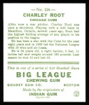 1933 Goudey Reprints #226  Charlie Root  Back Thumbnail