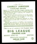 1933 Goudey Reprints #171  Charlie Jamieson  Back Thumbnail