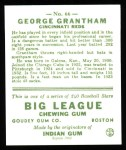 1933 Goudey Reprints #66  George Grantham  Back Thumbnail