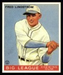 1933 Goudey Reprints #133  Freddy Lindstrom  Front Thumbnail