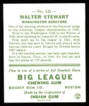 1933 Goudey Reprints #121  Walter Stewart  Back Thumbnail