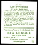 1933 Goudey Reprints #147  Leo Durocher  Back Thumbnail