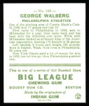 1933 Goudey Reprints #183  Rube Walberg  Back Thumbnail