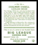 1933 Goudey Reprints #26  Chalmer Cissell  Back Thumbnail