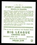 1933 Goudey Reprints #151  Jake Flowers  Back Thumbnail