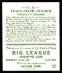 1933 Goudey Reprints #211  Hack Wilson  Back Thumbnail