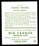 1933 Goudey Reprints #69  Randy Moore  Back Thumbnail