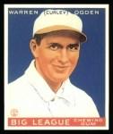 1933 Goudey Reprints #174  Warren Ogden  Front Thumbnail