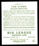 1933 Goudey Reprints #7  Ted Lyons  Back Thumbnail