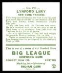 1933 Goudey Reprints #193  Lyn Lary  Back Thumbnail