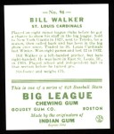 1933 Goudey Reprints #94  Bill Walker  Back Thumbnail