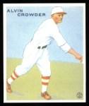 1933 Goudey Reprints #122  Alvin Crowder  Front Thumbnail
