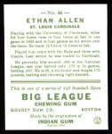 1933 Goudey Reprints #46  Ethan Allen  Back Thumbnail