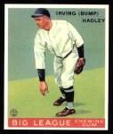 1933 Goudey Reprints #140  Bump Hadley  Front Thumbnail