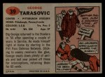 1957 Topps #39  George Tarasovic  Back Thumbnail