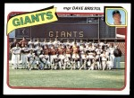 1980 Topps #499   -   Dave Bristol Giants Team and Checklist  Front Thumbnail