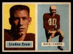 1957 Topps #91  Lindon Crow  Front Thumbnail