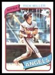 1980 Topps #48  Rick Miller  Front Thumbnail