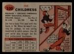 1957 Topps #100   Joe Childress Back Thumbnail