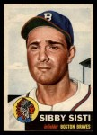 1953 Topps #124  Sibby Sisti  Front Thumbnail