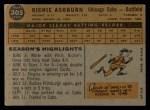 1960 Topps #305  Richie Ashburn  Back Thumbnail