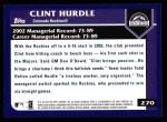 2003 Topps #270  Clint Hurdle  Back Thumbnail