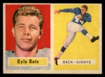 1957 Topps #59   Kyle Rote Front Thumbnail