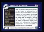 2003 Topps #657   Tampa Bay Devil Rays Team Back Thumbnail