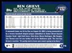 2003 Topps #478  Ben Grieve  Back Thumbnail