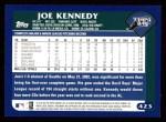 2003 Topps #423  Joe Kennedy  Back Thumbnail