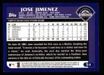 2003 Topps #51  Jose Jimenez  Back Thumbnail