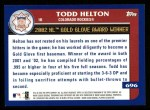 2003 Topps #696   -  Todd Helton Award Winners Back Thumbnail