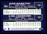 2003 Topps #325  Josh Hamilton / Carl Crawford  Back Thumbnail