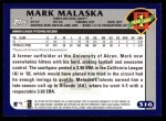 2003 Topps #316   -  Mark Malaska First Year Back Thumbnail