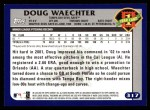 2003 Topps #317   -  Doug Waechter First Year Back Thumbnail