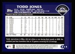 2003 Topps #213  Todd Jones  Back Thumbnail
