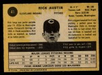 1971 O-Pee-Chee #41  Rick Austin  Back Thumbnail
