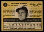 1971 O-Pee-Chee #5  Thurman Munson  Back Thumbnail