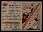1957 Topps #38   Don Stonesifer Back Thumbnail