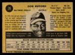 1971 O-Pee-Chee #29  Don Buford  Back Thumbnail