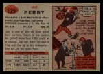 1957 Topps #129   Joe Perry Back Thumbnail